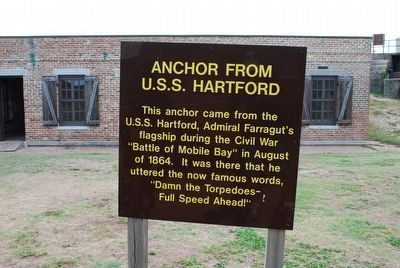 This is the sign in front of the anchor with a very brief history of the U.S.S Hartford.