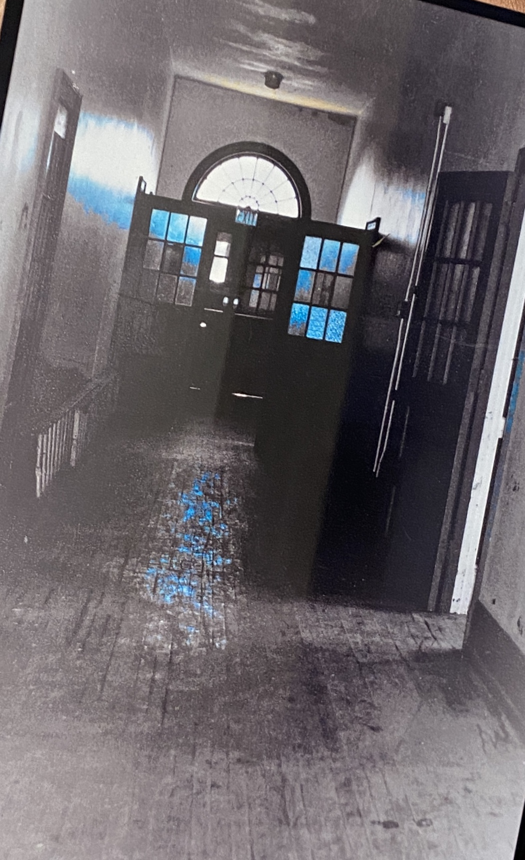 This is the original hallway located in the Havre de Grace Colored school