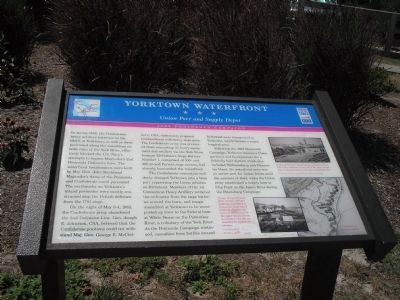 Marker within the Yorktown limits about the siege is quite informative to those wishing to know more about Yorktown's involvement in the Civil War.