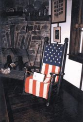 The President's Chair at Woodmont Lodge, at which six U.S. presidents have sat. Courtesy of The Frederick News-Post.