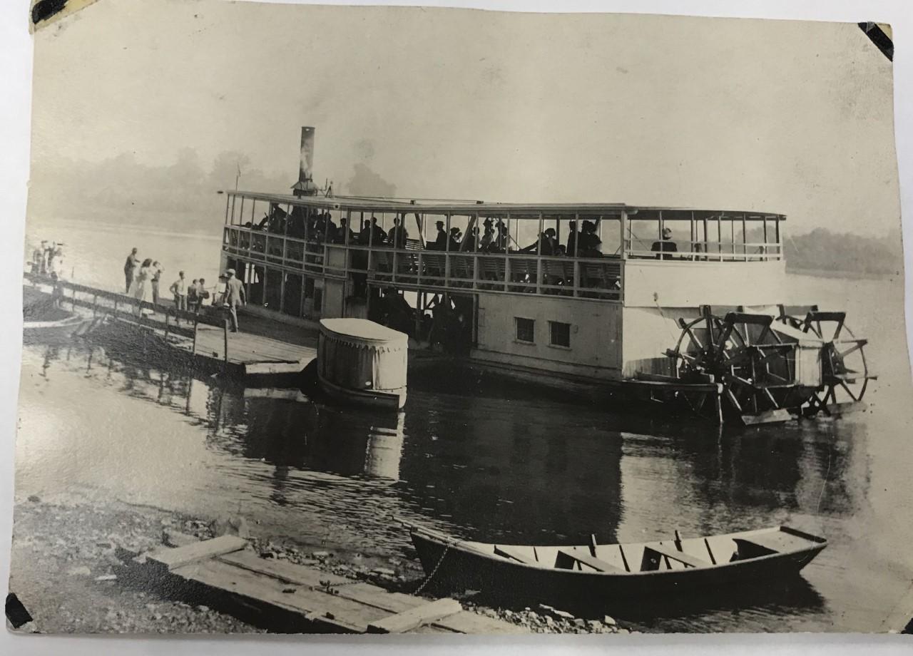 Original Hiawatha Docked at Sylvan Dell 1900