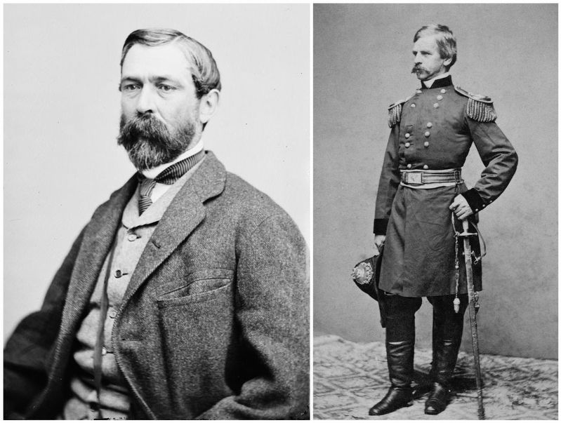 Confederate Major General Richard Taylor (right) and Union Major General Nathanial P. Banks (left) exchanged victories and defeats at both Mansfield and Pleasant Hill.