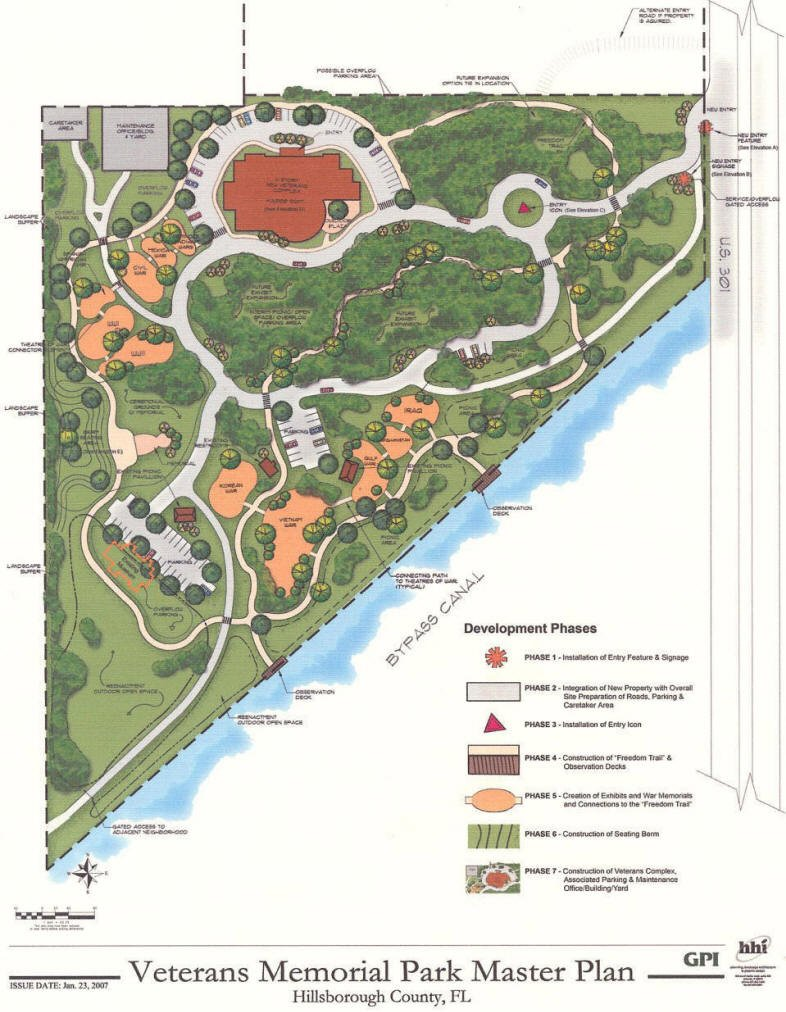 Map of the park including current and future plans.