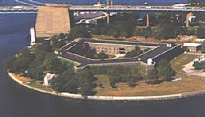 Aerial view of Fort Schuyler