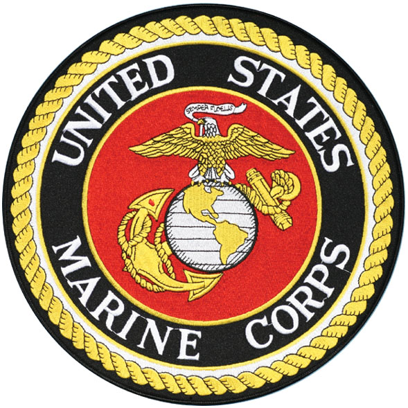 The Marine Corps in emblem consist of an eagle, globe, and anchor. Each part of this emblem is significant. Starting with the eagle, this is connected to the constitution and how Marines will defend it and it also connects to the fact that we fight in the air. In the Eagles mouth you will find a banner that says semper fidelis, the Marine Corps motto. Next is the globe, it depicts the Western Hemisphere because that is where most of the action took place in USMC history. Also represents our global reach, you can even see the lines of latitude. Behind the globe is the anchor, which stands for our connections with the United States Navy. Since the beginning they have always worked with the Navy as a fighting organization able to protect the shores of the United States it has a foul rope or line wrapped around it and it does not have a bitter end or a loose tie essentially capitulates that we are not going to disappear anytime soon in our time as a fighting force won't come to an end.