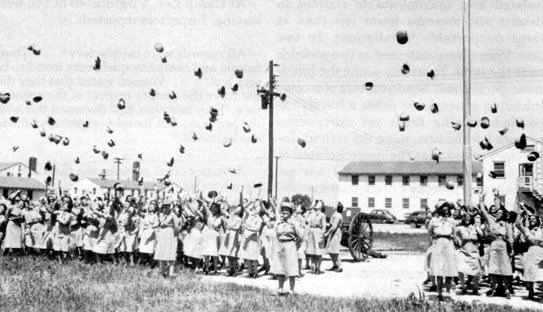 Camp Atterbury hosted a mass-enlistment ceremony of WACs on August 10, 1943.
