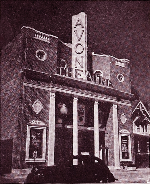 The Avon Theatre in 1939, Courtesy of CinemaTreasures.Org Creative Commons