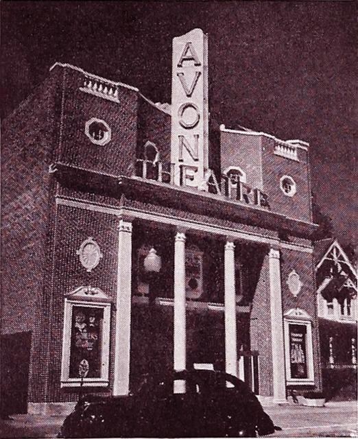 The Avon Theatre in 1939, Courtesy of CinemaTreasures.Org Creative Commons