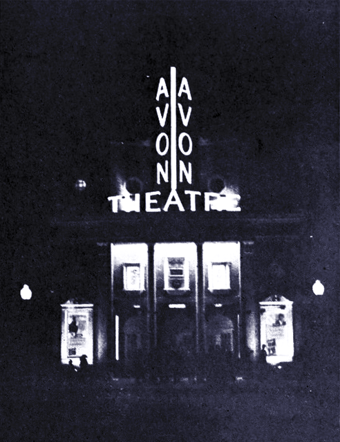 Grand Opening of the Avon Theatre in 1939, Courtesy of CinemaTreasures.Org Creative Commons