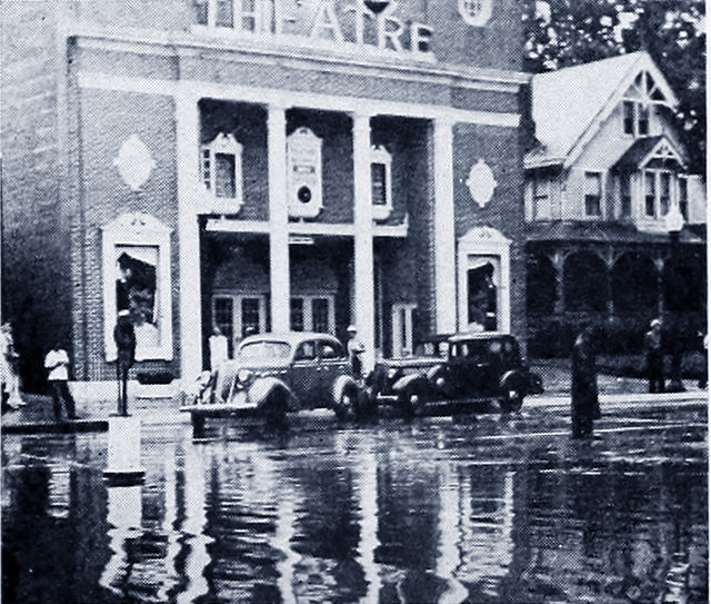 "Photograph of the Avon Theatre During the Showing of ""The Rains Came,"" Ironically During a Powerful Rainstorm, Courtesy of CinemaTreasures.Org Creative Commons"
