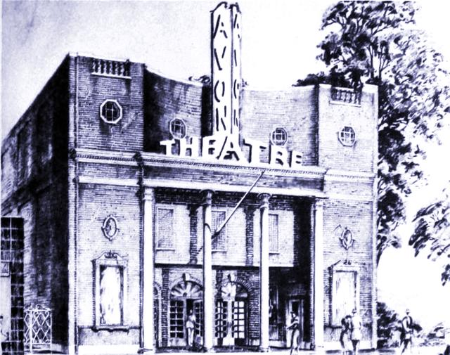 Original Architect's Sketch, circa 1939, Courtesy of CinemaTreasures.Org Creative Commons
