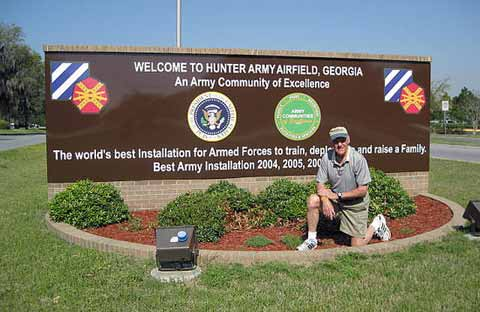 Front Entrance of Hunter Army Airfield
