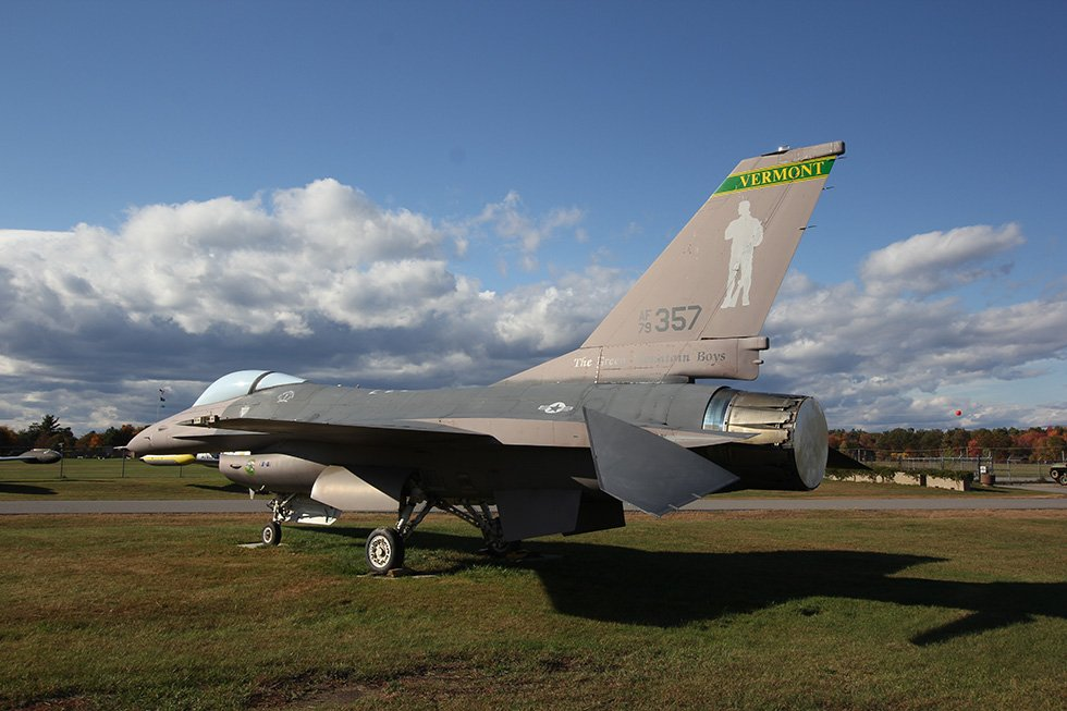 An aircraft which is part of the rotation of outdoor exhibits the museum has on display year round.