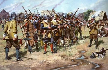 "Don Troiani's, ""First Muster"" illustrates the preparation before the battle began."
