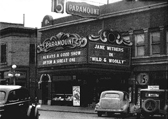The Paramount Theater with a new marquee