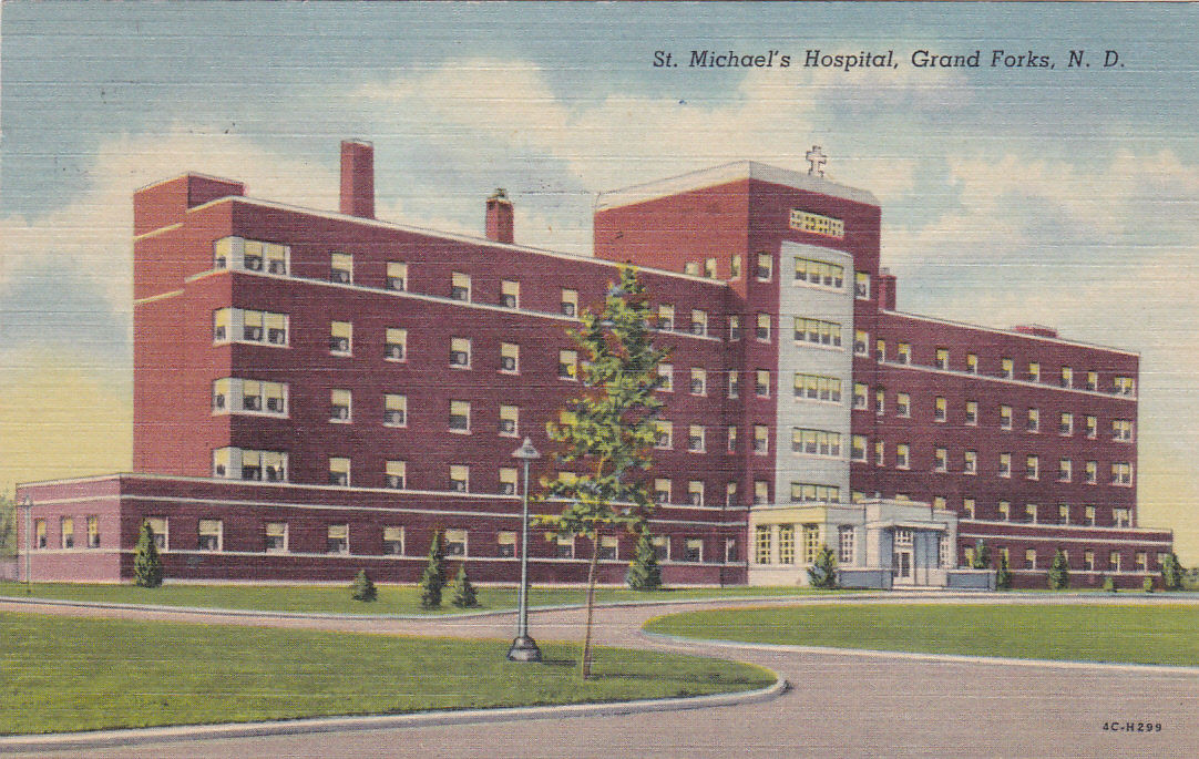 Drawing of Saint Michael's Hospital in 1957
