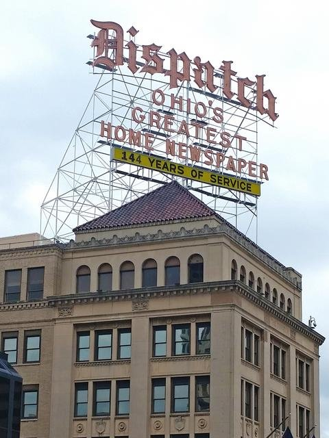 The Columbus Dispatch Building. Photo by Columbus Business First.