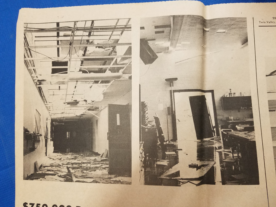Tornado Damage to School Building, 1978