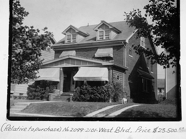 2099-2101 West Blvd circa 1927. The house was built in 1919.
