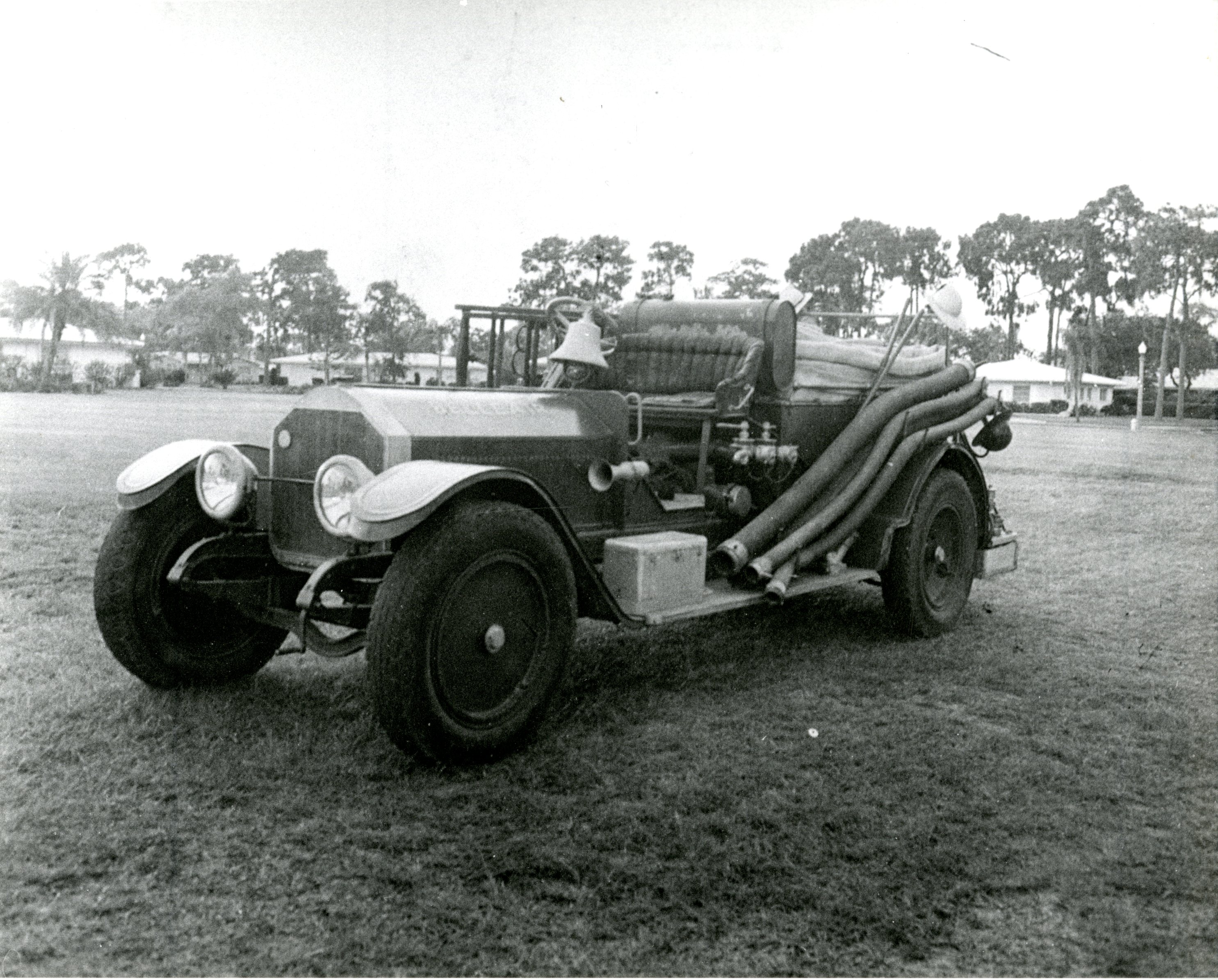 1919 La France fire engine, Belleair, Florida, undated. This engine is now at Heritage Village in Largo, Florida.
