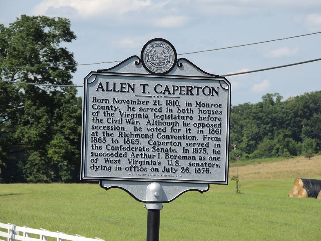 Allen T. Caperton Historic Marker