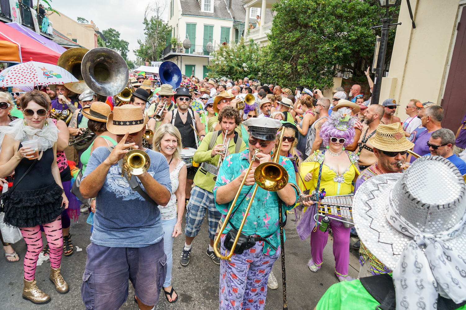 A brass band playing at Southern Decadence