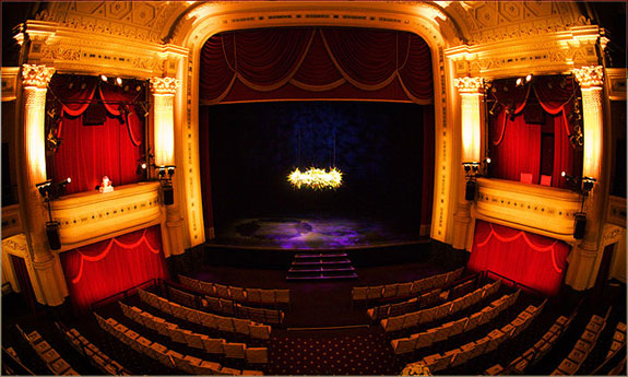The theater's interior