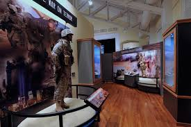 This image shows one of the many galleries and its exhibits inside of the African American Military History Museum.