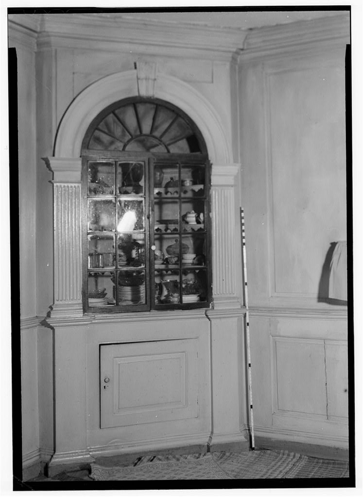 Photograph of interior wooden cabinetry, Effingham Manor (HABS study 1959)