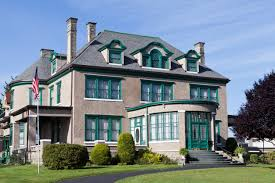 Exterior shot of the mansion