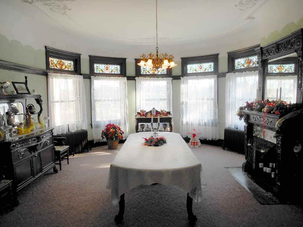 The home's dining room