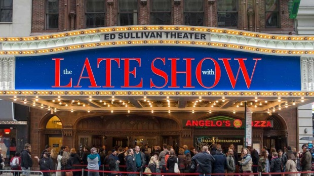 The Ed Sullivan Theater today. The Late Show with Stephen Colbert is filmed in the theater.