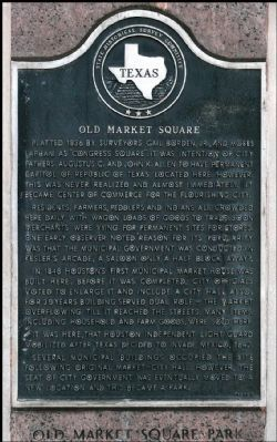 The marker is located along Congress Avenue.