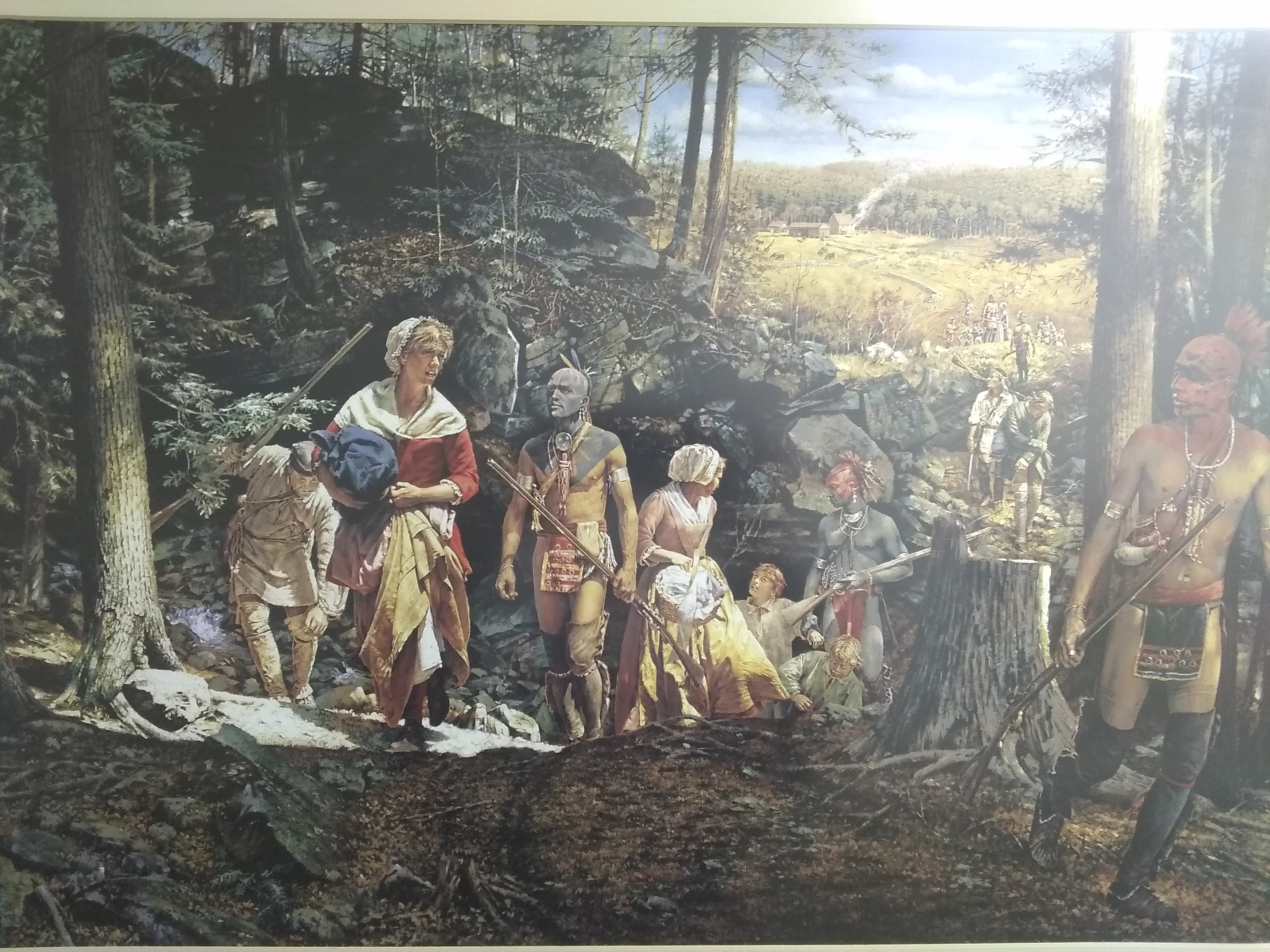Painting that depicts the Raid and Abduction