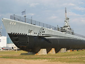 "The ""USS Drum"" submarine."