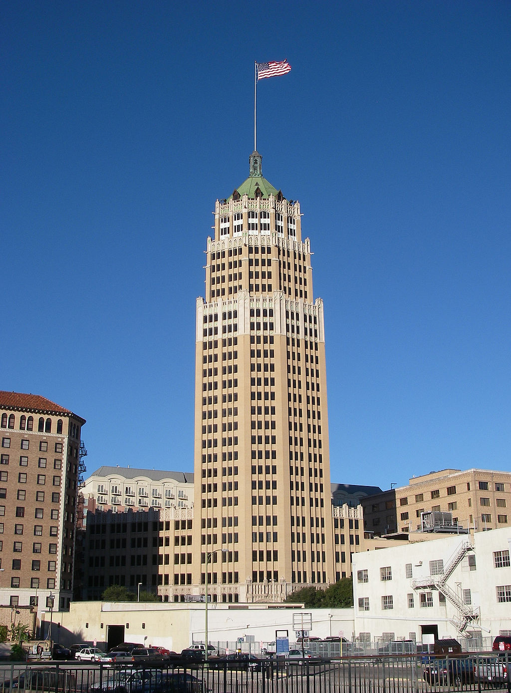 The Tower Life Building was completed in 1929 and is one of the city's most recognizable landmarks.