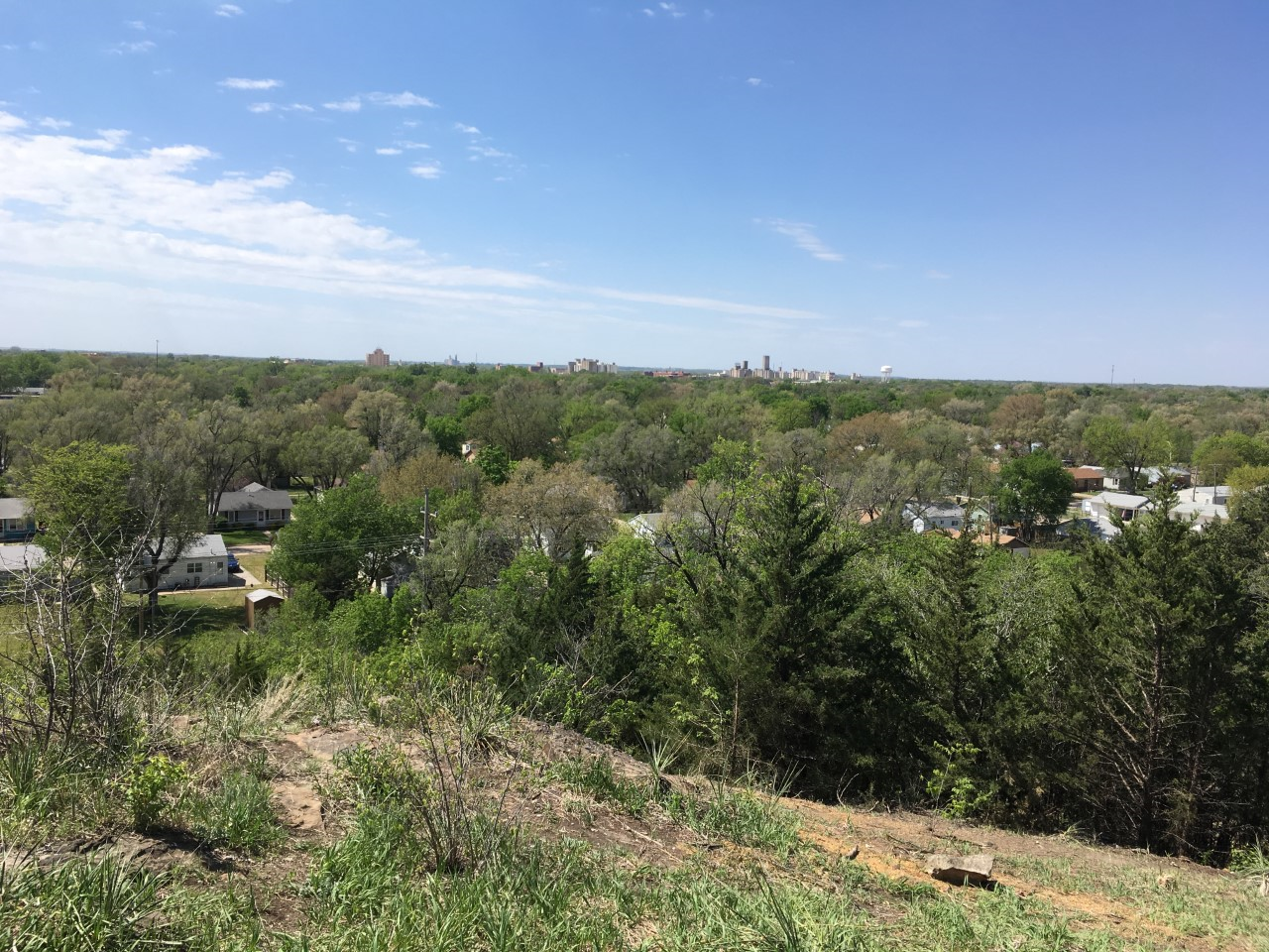 Another view of Salina from the top of Indian Rock Park.
