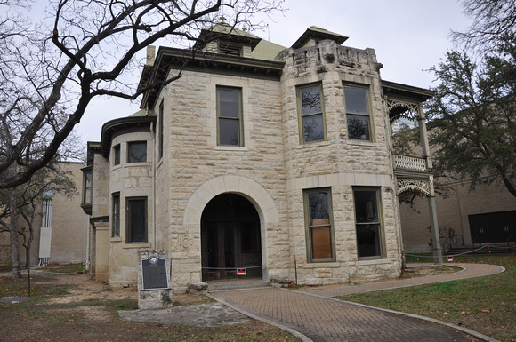 The Halff House is one of 22 historic structures in Hemisfair Park.