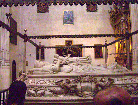 King Philip the Handsome's tomb. This is where Juana la Loca arrived when she took that walk all the way from her castle.