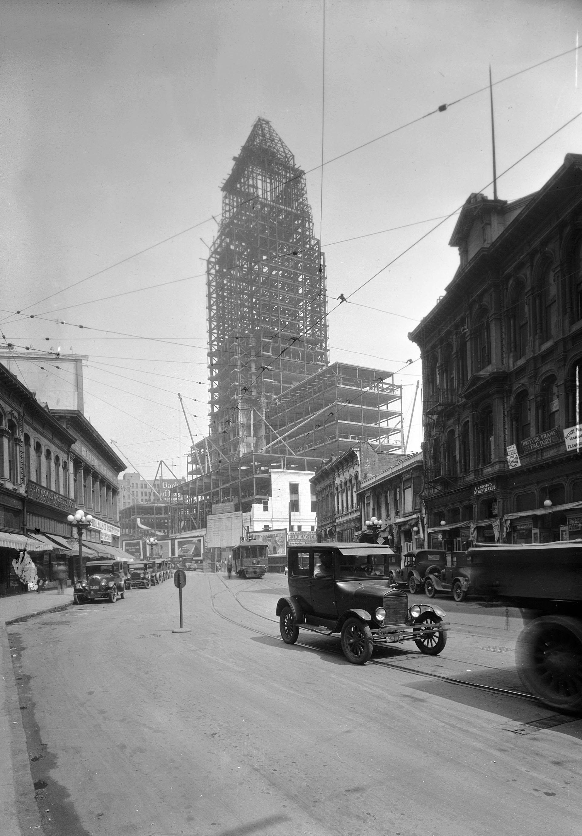 View of the Los Angeles City Hall Under Construction, ca. 1927