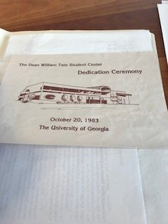 Dedication ceremony pamphlet.