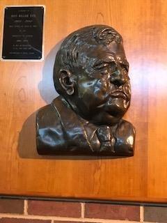 Dean Tate's bust.