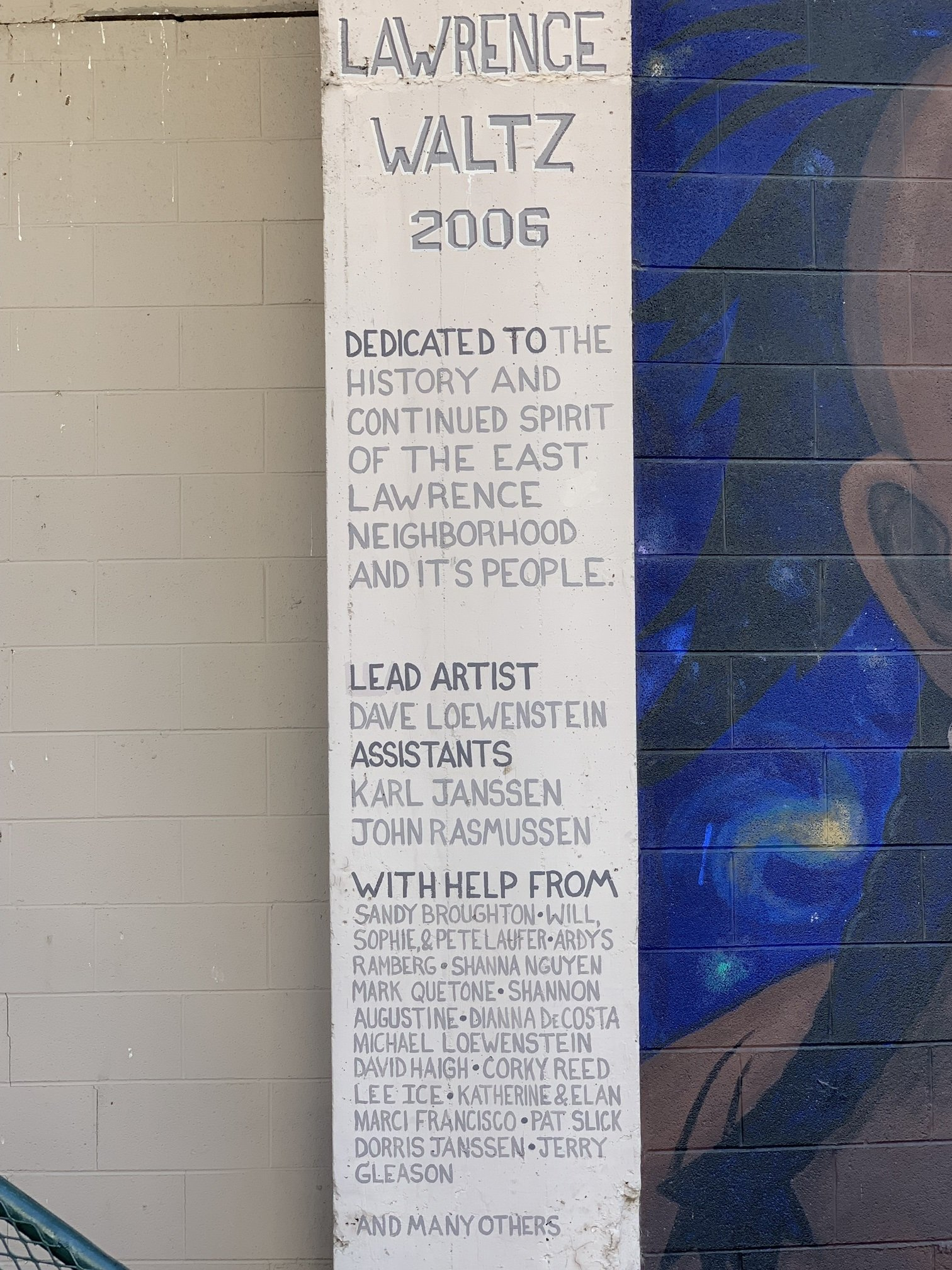 The contributors to the mural.