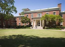 View of Joseph E. Brown hall from the courtyard