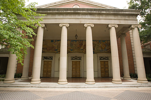The Fine Arts Building features neoclassical revival architecture.