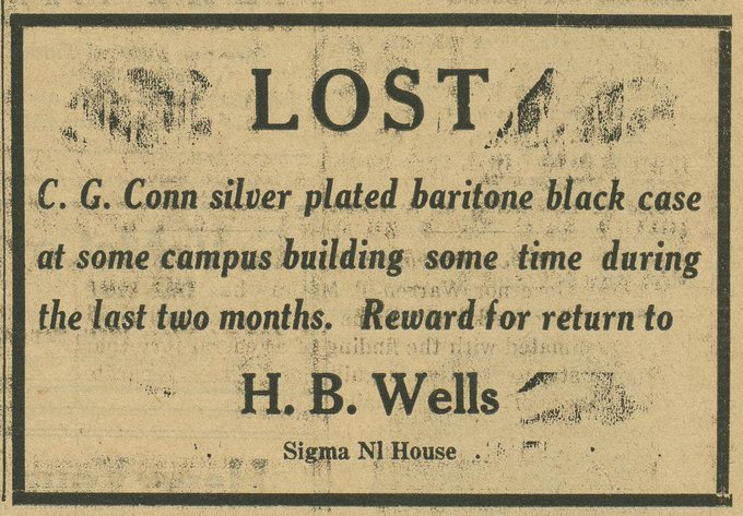 Herman B Wells Missing Instrument Case