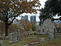 Oak Hill Cemetery is the state's oldest cemetery, dating to the mid-19th century.