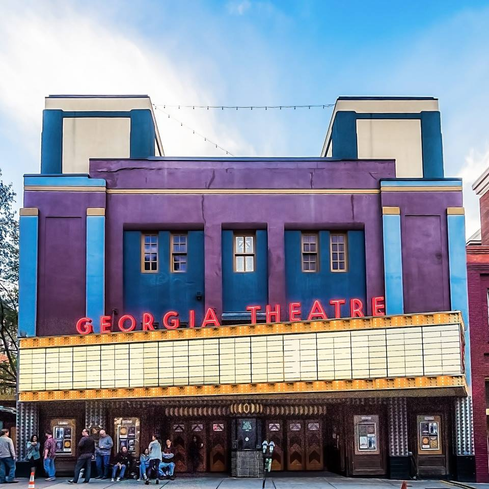 The outside of the Georgia Theatre