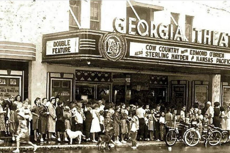A photo of the theater sometime after the building was redone in 1935, date when taken is not listed