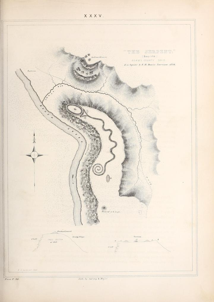 "Original Survey art found in ""Ancient Monuments of the Mississippi Valley"" (1848)."
